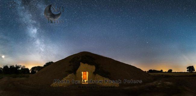Milky Way Over Soulton Long Barrow