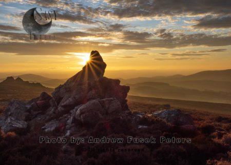 Sunset At Diamond Rock Stiperstones, Shropshire