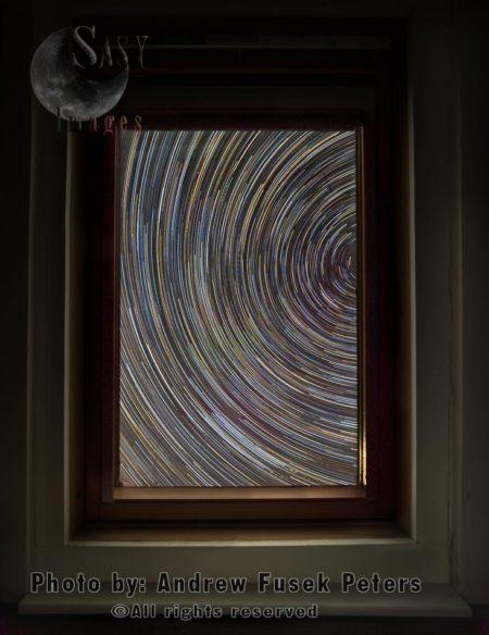 Star Trails Through My Window During Lockdown, Shropshire