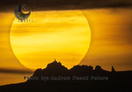 Sunset At Manstone Rock, Stiperstones