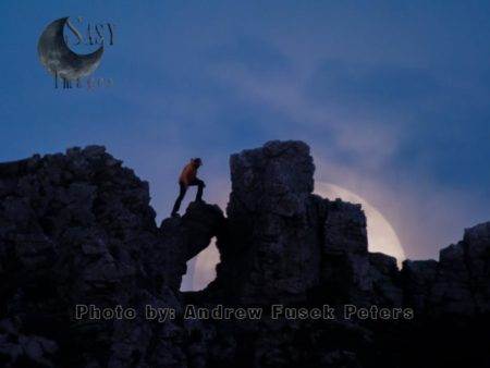 Moon Rise At The Devil's Needle, Devil's Chair, Stiperstones, Shropshire
