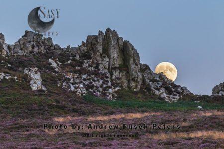Moonrise Over Devil's Chair, Stiperstones, Shropshire