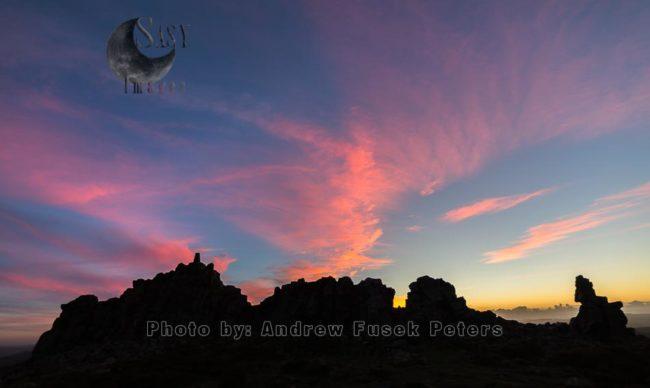 Intense Dusk Light At Manstone Rock