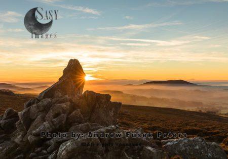 Sunset At Diamond Rock Stiperstones