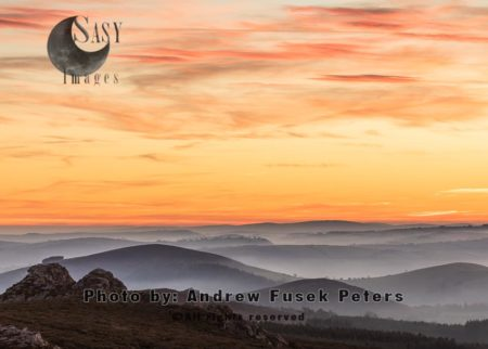Mist Below Cranberry Rock On An Autumn Dusk, Stiperstones