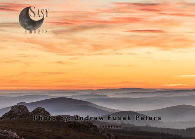 Mist Below Cranberry Rock Stiperstones