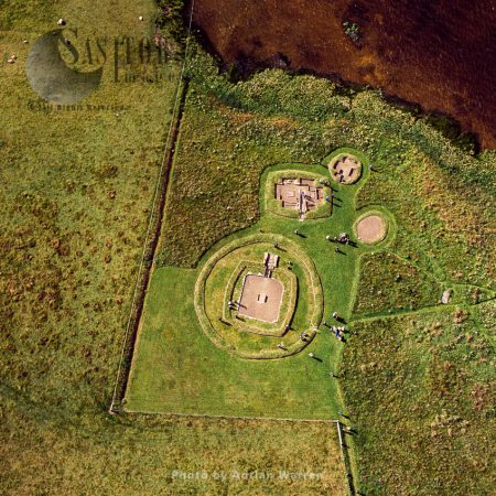 Barnhouse Neolithic Settlement, sited by the south shore of Harray Loch, Orkney, Scotland